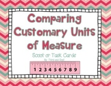 FREE Comparing Customary Units Scoot Game