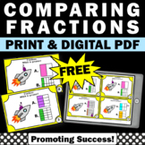 FREE Comparing Fractions Mini Lesson Task Cards, Fraction Exit Tickets