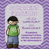 Comparing Fractions with Like Numerators/Denominators