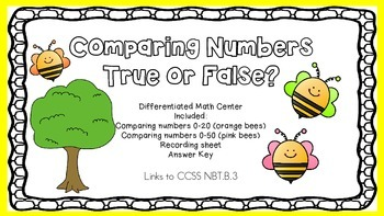 FREE-----Comparing Numbers 0 to 20 and  0 to 50