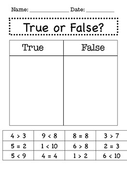 FREE Comparing Numbers {Differentiated!}