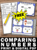 FREE Comparing Numbers Place Value Task Cards Greater Than Less Than Equal To