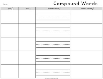 FREE Compound Words Cut & Paste