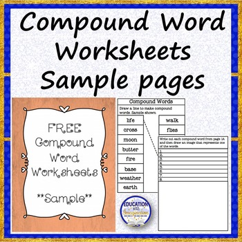 FREE Compound Words Worksheets Sample