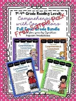 FREEBIE Comprehension Sample Set! A Quiz for 1st-4th Grade