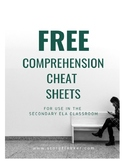 FREE Comprehension Strategy Cheat Sheet