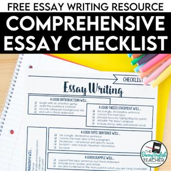 FREE Comprehensive Essay Checklist