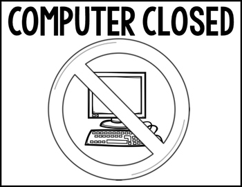FREE Computer Closed Visual- For Special Education classroom