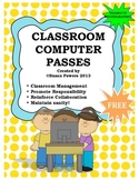 FREE Back to School Computer Passes Classroom Helpers