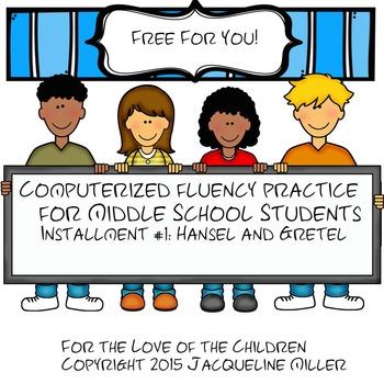 FREE Interactive PowerPoint Fluency Practice #1: Hansel and Gretel