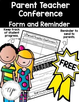 FREE Conference Form & Reminder