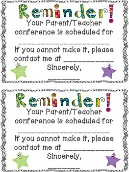 Free conference reminder note by terra kubert teachers pay teachers free conference reminder note spiritdancerdesigns Images