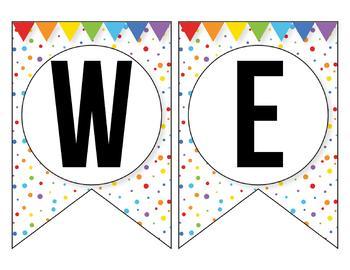 FREE Confetti Banner for the Classroom - Confetti Classroom Theme