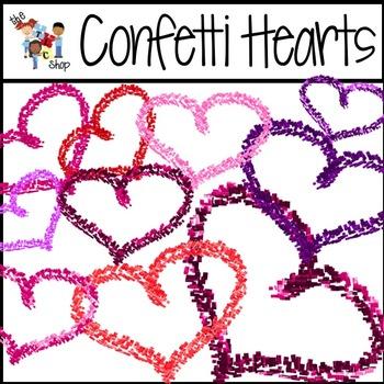 FREE! Confetti Hearts