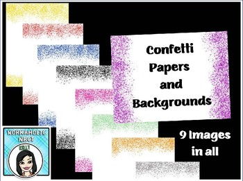 FREE Confetti Papers and Backgrounds