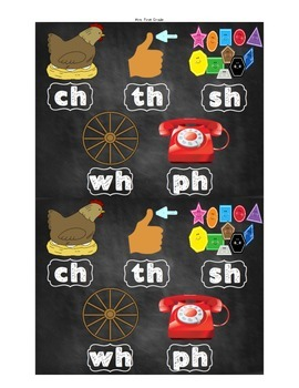 FREE Consonant Digraph Posters - chalkboard theme