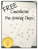 FREE Constellation Pre-Writing Tracing Sheets