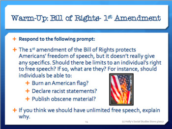 FREE!! Constitution and Federalism Unit Warm-Ups/Bellringers