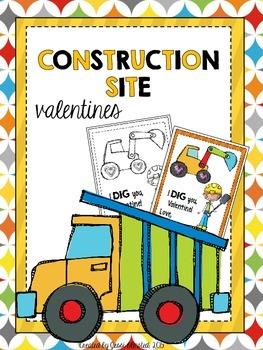 {FREE} Construction Valentines