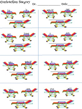 FREE Contraction Surgery Worksheet