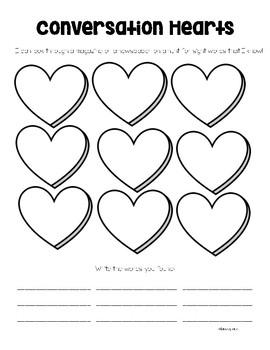 FREE Conversation Heart Word Work Center