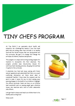 FREE Cooking Lesson Plan