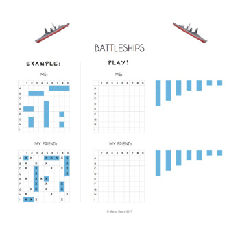 Cool Printable Battleships Board - Big