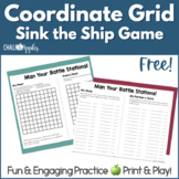 FREE Coordinate Grid Sink the Ship Game