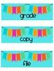 FREE Copy, Grade, File Organization Labels