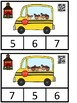FREE Count And Clip 1-10 School (QR Code Ready)