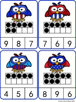 {FREE }Count and Clip Cards (Numbers 1-20): Owls
