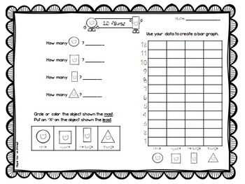 FREE Count and Graph 2D Shapes (Math Center or Work)