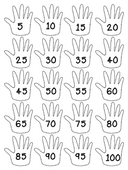 FREE Count by 5s Using Hand Graphics