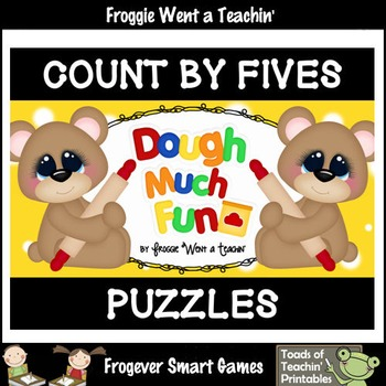 """Count by Fives--Number Sequencing Puzzles to 120 """"Dough Much Fun"""""""