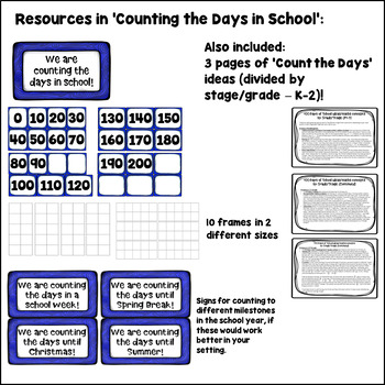 FREE! Count the Days of School Display - K-2 Number Talk ideas included!