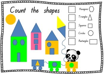 FREE Count the shapes worksheet - geometry- common core aligned