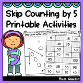 Skip Counting by 5 Worksheets Finding Number Patterns Acti