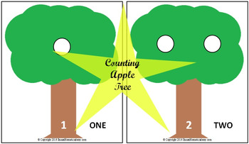 FREE Counting Apple Tree Activity Printable for Preschoool and Kindergarten