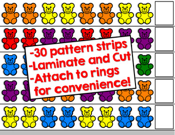 FREE Counting Bears Pattern Cards