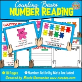 FREE Counting Bears Reading Book with Drawing, Writing and Counting Mats