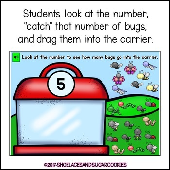 FREE Counting Bugs 1-20 Boom Cards
