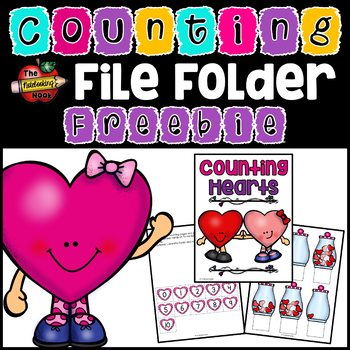 FREE Counting Hearts File Folder Activity - Numbers 0-10