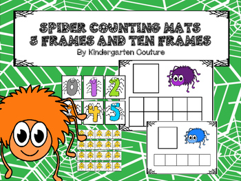 FREE Counting Mats Spiders - 5 Frames And 10 Frames