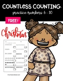 FREE Countless Counting™ Numbers 6 - 10 (4 Christmas Theme