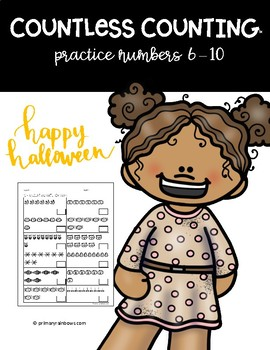 FREE Countless Counting™ Numbers 6 - 10 (4 Halloween Themed pages!)
