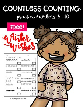 FREE Countless Counting™ Numbers 6 - 10 (4 Winter Themed pages!)