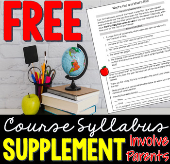 FREE Back-to-School Course Syllabus Supplement (Activity/Handout)