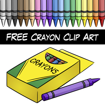 free crayon clip art by digital classroom clipart tpt rh teacherspayteachers com crayon clip art black and white crayons clipart