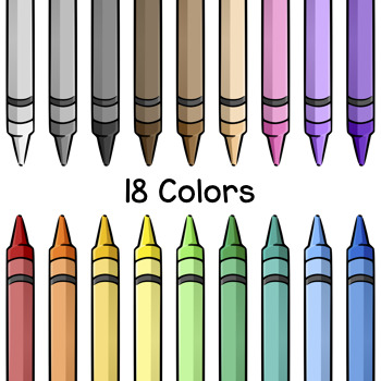 free crayon clip art by digital classroom clipart tpt rh teacherspayteachers com clipart crayons de couleur free clipart of crayons