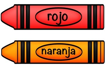 Crayon Colour Posters - spanish / español